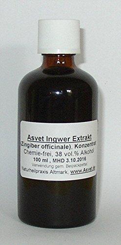 Ingwer-tinktur (50ml Asvet Ingwer Extrakt, Tropfen, Tinktur, Konzentrat, höchste Qualität)