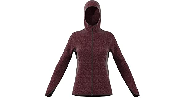 adidas Damen FL Cc Hoodie NobmarNgtred Pullover