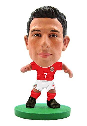 SoccerStarz SOC1048 - Figura de Equipo Nacional de Gales con Licencia Oficial de Joe Allen en Kit de Inicio