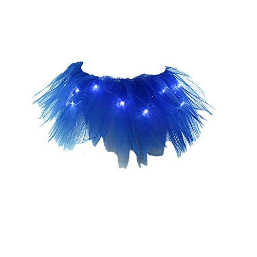 Lazzboy Rock Tüll Ballkleid Damenmode Leuchten LED Bühnentanz Rave Mini Solide ()