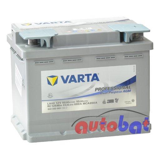 Varta 840060068C542Silver Dynamic AGM Batterie Auto 12V 80mAh