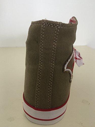 by johanna Trachten-Sneaker Trachten-Schuhe Trendige Herren-Schuhe Canvas.Wer Keine Haferl-Schuhe Liebt!Fürs Oktoberfest,Freizeit,Wander-Schuhe,Laufschuhe!Mann ist Perfekt .Braun Trachten Sticker45 - 3