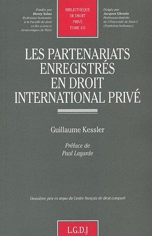 Les partenariats enregistrés en droit international privé