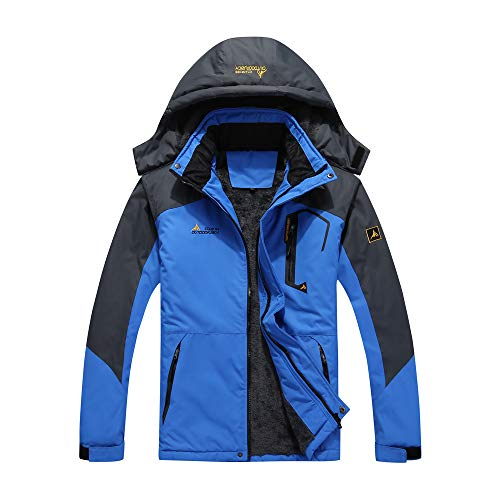 Lixada Herren Winterjacke, Wasserabweisende & windundurchlässige Softshell Jacke mit Verdicktem...