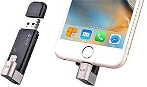Devia-Unità Flash USB rotante per archiviazione esterna-Scheda di memoria da 32 GB, con connettore Lightning, certificata Apple MFI, per iPhone/iPad/iPod