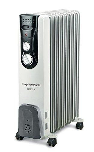 Morphy Richards OFR 09 2000-Watt Oil Filled Radiator (Grey)