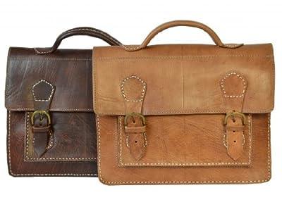"""Gusti Cuir nature """"Charlie"""" sac bandoulière besace nouveau sac en cuir véritable sacoche business sac porté épaule notebook ordinateur portable 14"""" iPad Air marron foncé V37"""