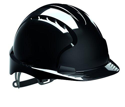 JSP AJF030-001-100evo2casco di sicurezza con slip a cricco, ventilato, nero