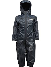 Regatta Puddle II Kids Waterproof & Breatheble Full Zip All in One Rainsuit