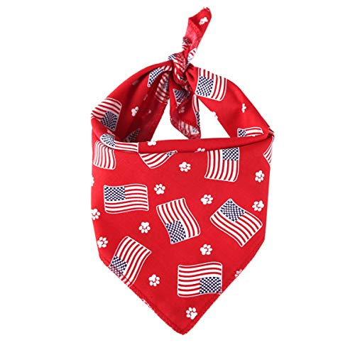 POPETPOP POPOPOP Hundebandanas American Flag-Puppy Lätzchen Schals für den 4. Juli Independence Day Hundekostüm mit amerikanischer Flagge für das Haustier Dog-Red -