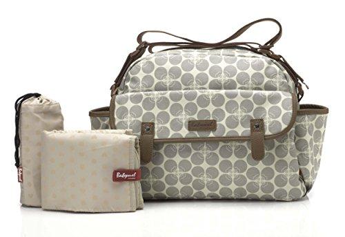 Preisvergleich Produktbild Babymel Wickeltasche Molly Floral Dot Grey BM9205