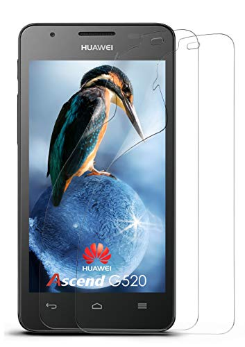 moex 2X Huawei G525 | Schutzfolie Klar Bildschirm Schutz [Crystal-Clear] Screen Protector Display Handy-Folie Dünn Bildschirmschutz-Folie für Huawei Ascend G520/G525 Bildschirmfolie