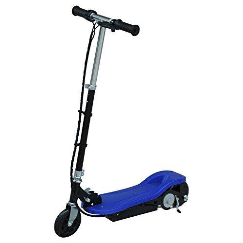 homcom Monopattino Scooter Elettrico per Bambini Pieghevole 120W, velocità Massima 12km/h, 81.5 x 37 x 96cm, Blu