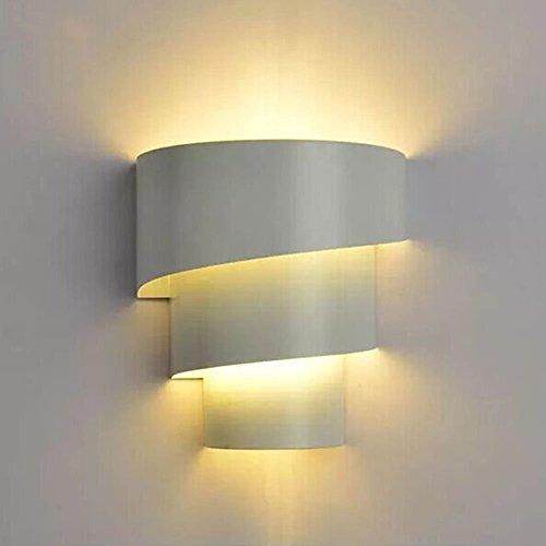 Fuskang lampada da parete creativa lampada da parete moderna in ferro lampada da parete semplice da comodino luci soggiorno luci scale laterali (color : white)