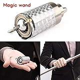 Egosy Professioneller Zauberstab, Stab Tragbare Magischer Zauberstab Magic Stab Martial Arts Metal Pocket BO Staff