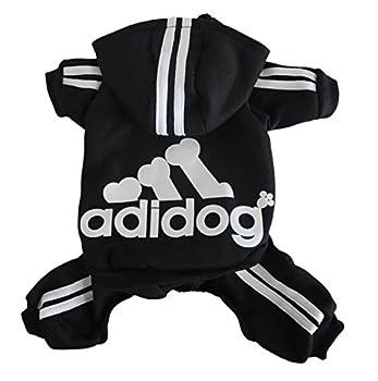 Scheppend Multi-couleur vetements Sweat-shirt en Conton Manteau d'hiver pour Chien (S à XXL),Noir M