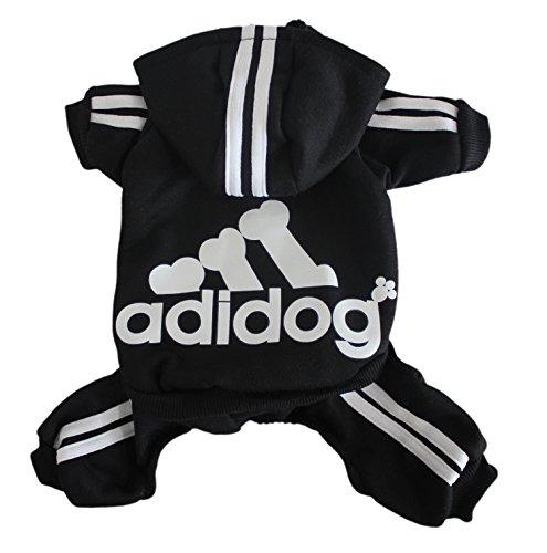 Scheppend Herbst und Winter mit vier Beinen Hund Sweatshirts mit Kapuze,Schwarz XL