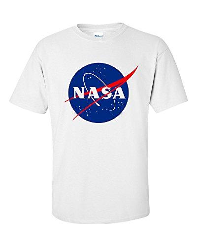 Not Just Nerds NASA Meatball Logo T-Shirt (Large, Blanc)