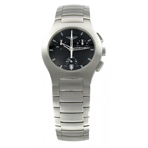 Watch Longines opoition l31184526 Quartz (Rechargeable) quandrante Black Strap Stainless Steel