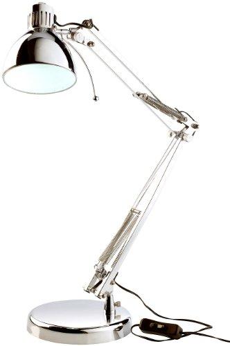 Lunartec Büro-Tischleuchte: Tischlampe im Retro-Design, 3 Watt-LED, silber (Arbeitszimmer-Leuchte)