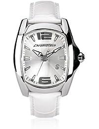 Chronotech CT7107M06 - Reloj para hombre con correa de piel, color blanco / gris