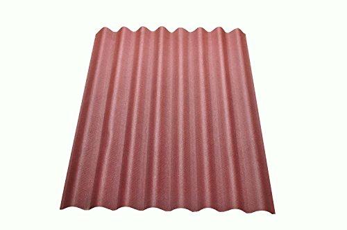 Onduline Easyline Dach- und Wandplatte Trapezblech Wellplatte 1x0,76m - rot