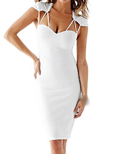 E-Girl FOB21902 femme Robes de Soirée cocktail Blanc