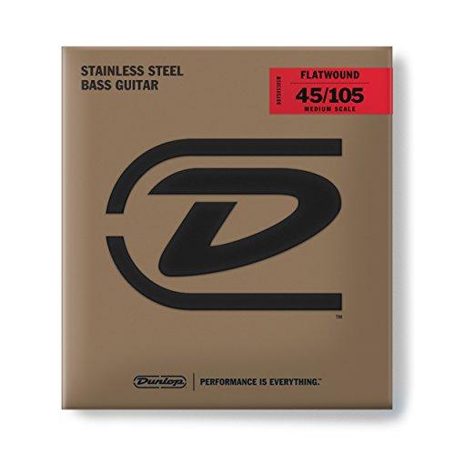 Dunlop Flatwound Scale 45/105 Medium 4/Set Bass Guitar Strings (DBFS45105M)