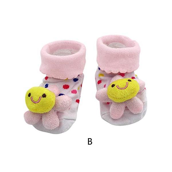 MAYOGO Bebé Calcetines Niña Corto Antideslizante Soles Acogedor Dibujos Animados 3D Recién Nacido Niño Bebé Calcetines… 3