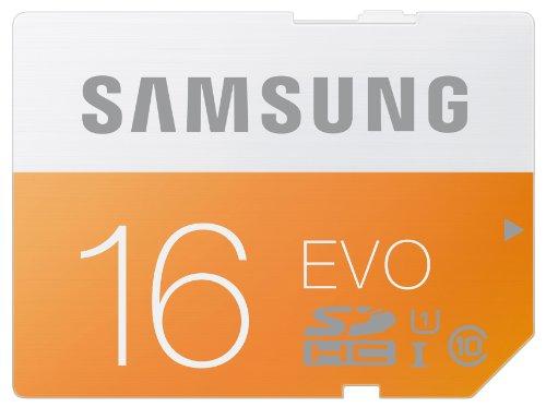 Samsung Speicherkarte SDHC 16GB GB EVO UHS-I Grade 1 Class 10 für Foto und Video Kameras (bis zu 48MB/s Transfergeschwindigkeit) (Samsung Auto-dvd-player)
