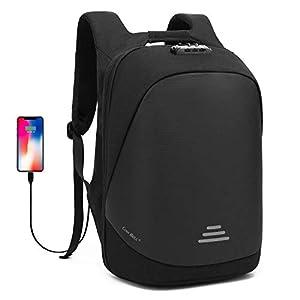 417BVRPF TL. SS300  - UTOTEBAG Antirrobo Mochila Portátil 15.6 Pulgadas Hombre Impermeable con Puerto USB Mochila Backpack para Portátil…