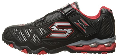 Skechers Boys Hydro-Static Durable Athletic Sporty Trainers Shoes Black/Red