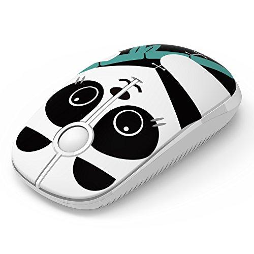 Kabellose Maus, Jelly Comb 2.4G Maus Schnurlos Wireless Kabellos Optische Maus mit USB Nano Empfänger für PC / Tablet / Laptop und Windows / Mac / Linux (Panda)