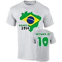 Brazil 2014 Country Flag T-shirt (neymar 10)