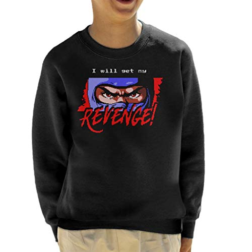 Cloud City 7 I Will Get My Revenge Retro Ninja Gaiden Kid's Sweatshirt