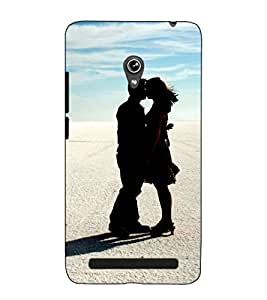 Fuson Designer Back Case Cover for Asus Zenfone 6 A600CG (Kissing couple theme)
