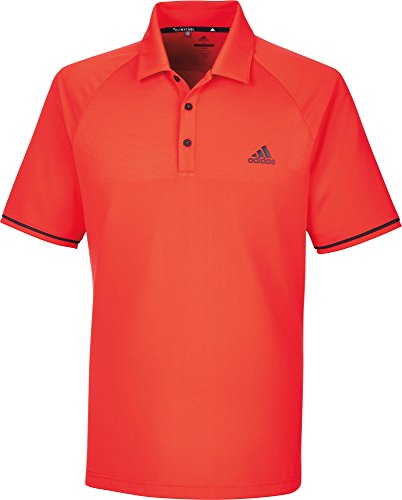 adidas Climacool Athletic Raglan Polo de Golf Homme M Rouge