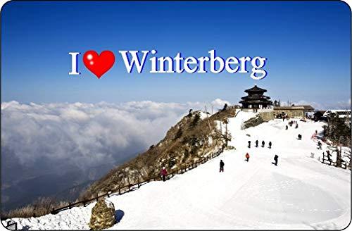 Cadora Magnetschild Kühlschrankmagnet I Love Winterberg I (Ostern Kühlschrank-magnete)