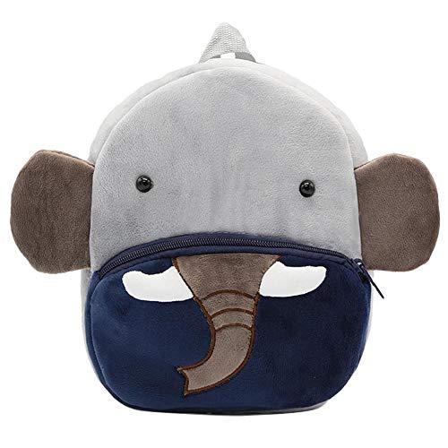 Seasaleshop Mochila Escolar guardería Mignon Mochila de Peluche Elefante, Gran Capacidad, Compatible en los bebés de 1a 4años