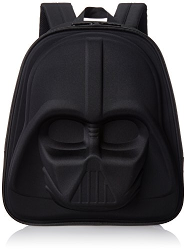 Loungefly Darth Vader 3D Molded Nylon Back Pack, Black, One Size
