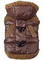 La Vogue Hiver Snowsuit Vêtements/Veste/Capuche/Doudoune/Manteau/Déguisement Epais Chaud pour Chien Chiot Bichon Frise poméranien Chihuahua Caniche 2 Couleurs