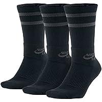 Nike SB 3PPK Crew Socks - Calcetines, Unisex Adulto, Negro(Black/Anthracite