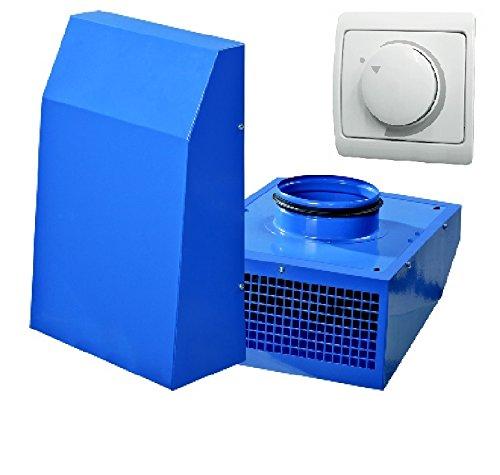 SET VENTS VCN 150 + Dimmer / Drehzahlregler / Außenventilator / Abzug / Außenwandventilator / Industrieller Außenwand Radiallüfter / Wand / Ventilator / Lüfter für 150 mm Rohr / 100% Original EU-Markenqualität