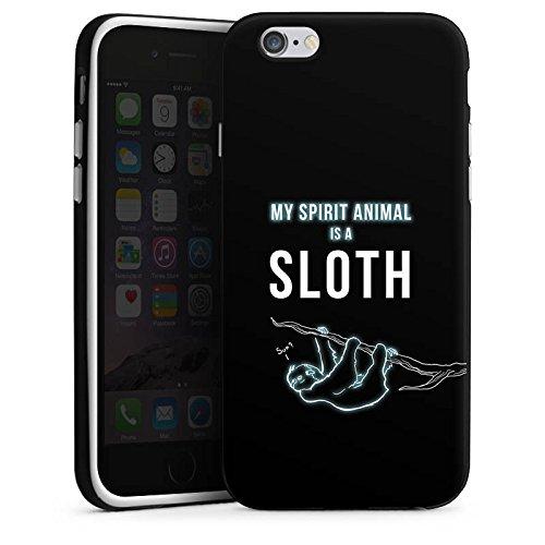 Apple iPhone X Silikon Hülle Case Schutzhülle Faultier Sloth Sprueche Silikon Case schwarz / weiß
