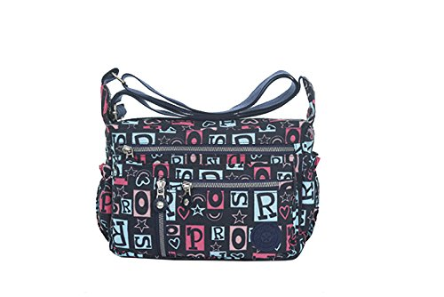 Borse Yy.f Nylon Sacchetto Del Messaggero Di Grande Capacità Ultraleggero Bag Telone Nuovo Turismo E Gli Uomini E Le Donne Messenger Bag Di Svago Multicolore G
