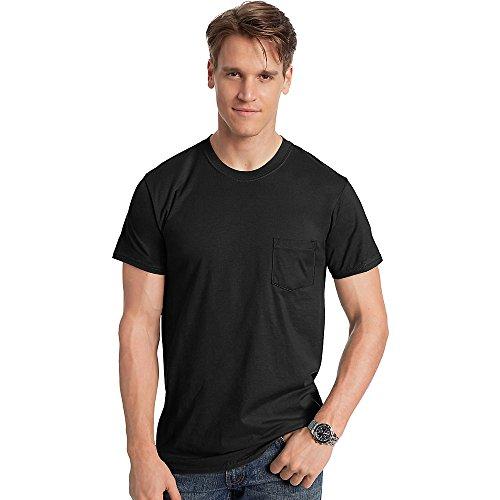 Hanes Herren Asymmetrischer T-Shirt schwarz - schwarz