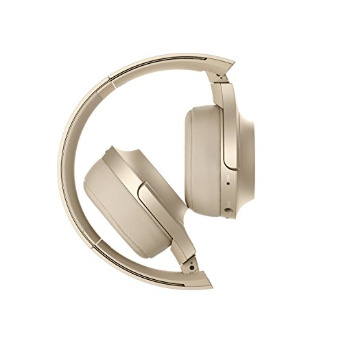 Sony WH-H800 h.ear Series Wireless On-Ear High Resolution Headphones with 24 Hours Battery Life - Gold