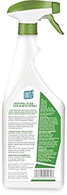 OUT! Natural Flea, Tick and Mite Treatment Spray, 500 ml by The Bramton Company