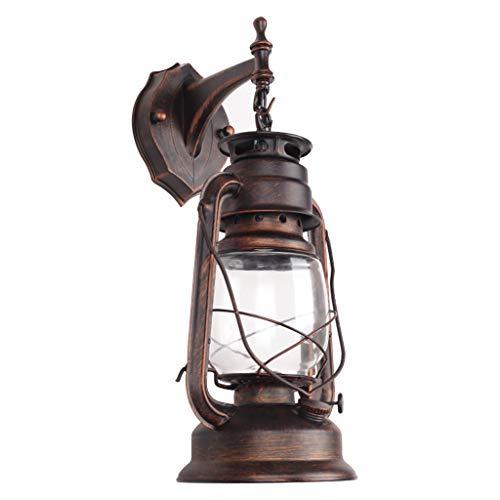 Luminaire rustique fixé au mur lumière industrielle industrielle Vintage Style Applique d'éclairage en verre pour abat-jour pour chambre à coucher à côté du restaurant salle de séjour, lampe de mur dé