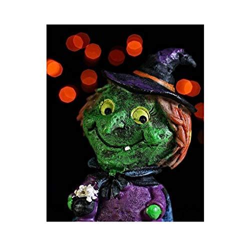 Arichtop Halloween Pillowcase Dekokissen Abdeckung Clever Geist schönes Bild für Leinenkissenbezug 45x45cm